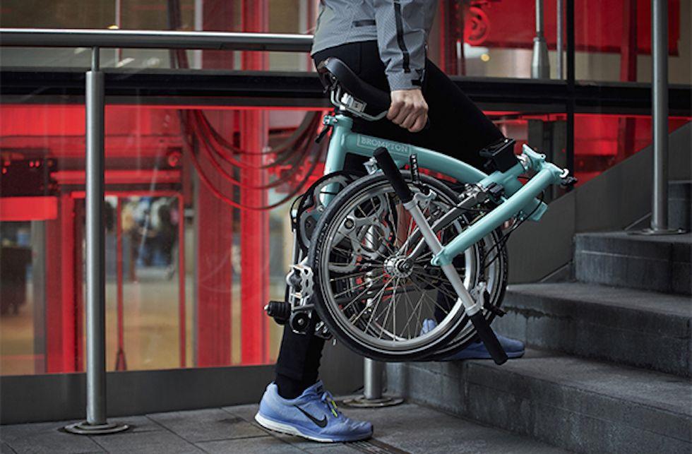 bici pieghevole scale